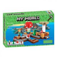 КОНСТРУКТОР MY WORLD 10619  (253 детали) Грибной остров