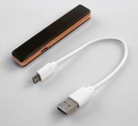 """Зажигалка электронная """"Успех"""" в подарочной коробке, USB, спираль, серая, 7х13 см 2768060"""