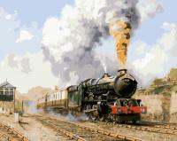 Картина по номерам 40*50 см, Поезд
