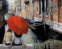 Картина по номерам 40*50 см, Влюбленные в Венеции