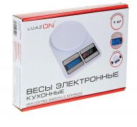 Весы кухонные LuazON LVK-704, электронные, до 7 кг, белые 602993