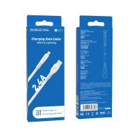 Кабель USB - lighting BOROFONE BX23 1 m силиконовый White