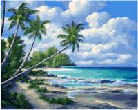 Картина по номерам PK 11460 Тропический берег 40*50 Эксклюзив