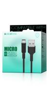 Кабель USB - microUSB BOROFONE BX1 1 m силиконовый Black
