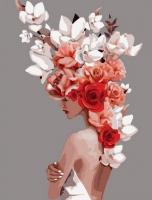 Картина по номерам GX 36695 Девушка-цветок. Обаятельная нежность (Джадд Эми) 40*50