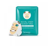 Питательная эластичная тканевая маска для лица с изображением барашка Bioaqua