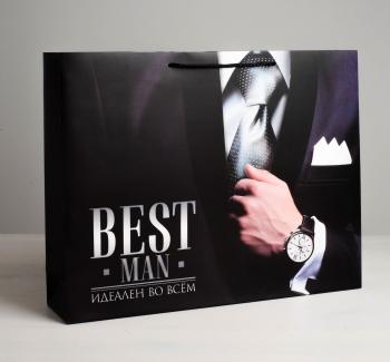 Пакет ламинированный горизонтальный Best man, S 15 × 12 × 5,5 см   4580719