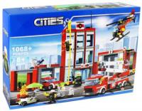 КОНСТРУКТОР CITIES 82312 (1068 деталей) Пожарная часть
