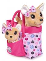 Интерактивная собачка в сумочке (ходит,лает) + щенок.