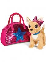Интерактивная собачка в сумочке с пайетками (ходит,муз) KKX-10326