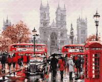Картина по номерам 40*50 см, Улочки Лондона