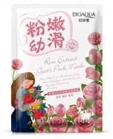 Омолаживающая тканевая маска для лица на основе сухого козьего молока и лепестков розы Bioaqua