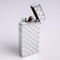 Зажигалка электронная в подарочной упаковке, USB, дуговая, серебристый узор, 3.5х7 см 3018068