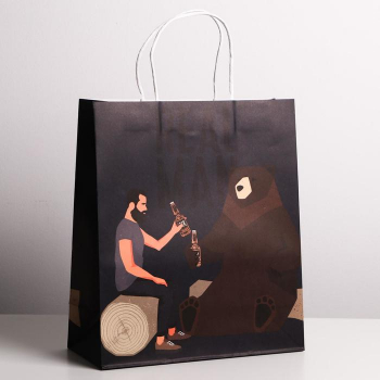 Пакет крафтовый Real man, 22 × 22 × 11 см   4783307