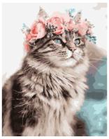 Картина по номерам PK 49018 Весенний кот 40*50 Эксклюзив