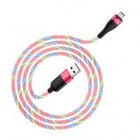 Шнур USB - Type-C premium hoco U85 1м. Розовый