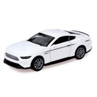 Машина металлическая Ford Mustang, открываются двери, инерция, цвет белый 6478095