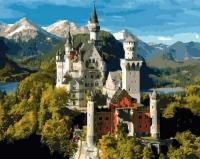Картина по номерам 40*50 см,  Замок спящей красавицы (Нойшванштайн)