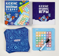 """Настольная игра - головоломка """"Logic. Весёлые судоку"""", 6+   4829503"""