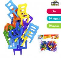 """Настольная игра """"На 4 ногах"""", большая версия, 70 стульев, №SL-02671   4330335"""