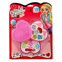 """Набор косметики для девочки """"Двойное сердечко"""" тени 6 цветов по 1 гр и 6 цв. с блест. по 1 г 1431234"""