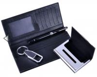 Подарочный набор (портмоне+брелок+визитница+ручка)