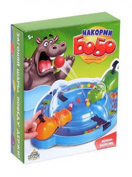 Настольная игра «Накорми Бобо», мини-версия, бегемоты