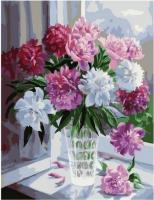 Картина по номерам PK 79038 Пионы на окне (Воробьёва Ольга) 40*50 Эксклюзив