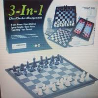 Набор шахматы 3 в 1, 3882