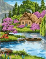 Картина по номерам GX 39012 Домик в горах 40*50