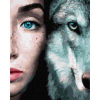 Картина по номерам 40*50 см, Дикие. Волк