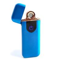 """Зажигалка электронная """"Авилес"""" спираль, сенсорная кнопка, синяя 7.9х3.1 см   5066582"""