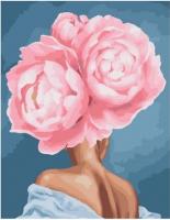 Картина по номерам PK 10502 Девушка-цветок. Смущение 40*50 Эксклюзив