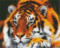 Алмазная мозаика 40*50 см, Могучий тигр