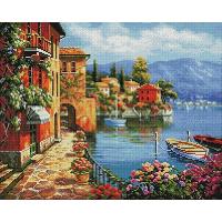 Алмазная мозаика 40*50 см, Итальянская набережная