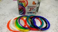 UNID Пластик для 3D ручек с ОРГАНАЙЗЕРОМ, набор разных цветов: PRO-9
