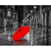 Картина по номерам 40*50 см, Красный зонт