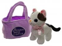 Мягкая Игрушка Кошечка в сумочке (мяукает)