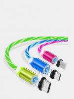 Кабель USB магнитный светящийся W-016