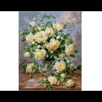 Картина по номерам G 439, Белые розы 40*50