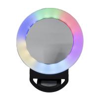 Цветное сэлфи кольцо SELFIE RING LIGHT на телефон с зеркалом.