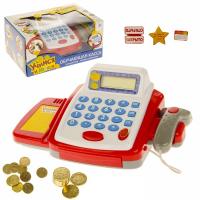 """Касса-калькулятор """"Учимся и играем"""", с аксессуарами, звук, свет  №SL-00286   2146607"""