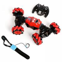 Машинка - перевертыш HYPER  с управлением жестами, работает от аккумулятора , цв.красный 5188507