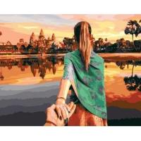Картина по номерам 40*50 см, Следуй за мной. Камбоджа