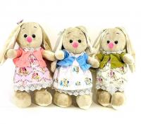 C13-6 Мягкая игрушка Зайка в платьице