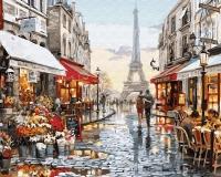 Картина по номерам 40*50 см, Прогулка по Парижу