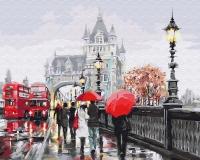 Картина по номерам 40*50 см,  Дождливый Лондон
