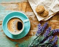 Картина по номерам 40*50 см,  Лавандовый завтрак