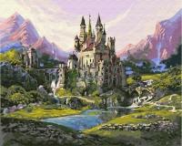 Картина по номерам 40*50 см,  Замок в горах