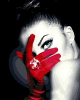 Картина по номерам 40*50 см,  Красная перчатка